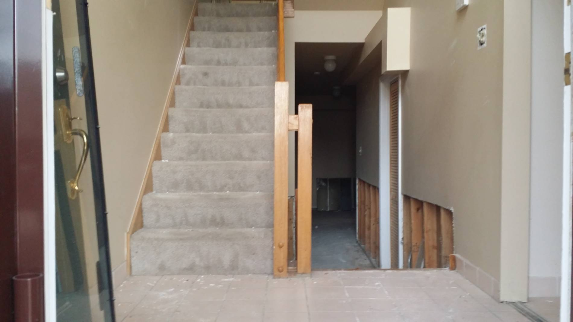 1-23-17 8109 S Indiana Front Foyer Before