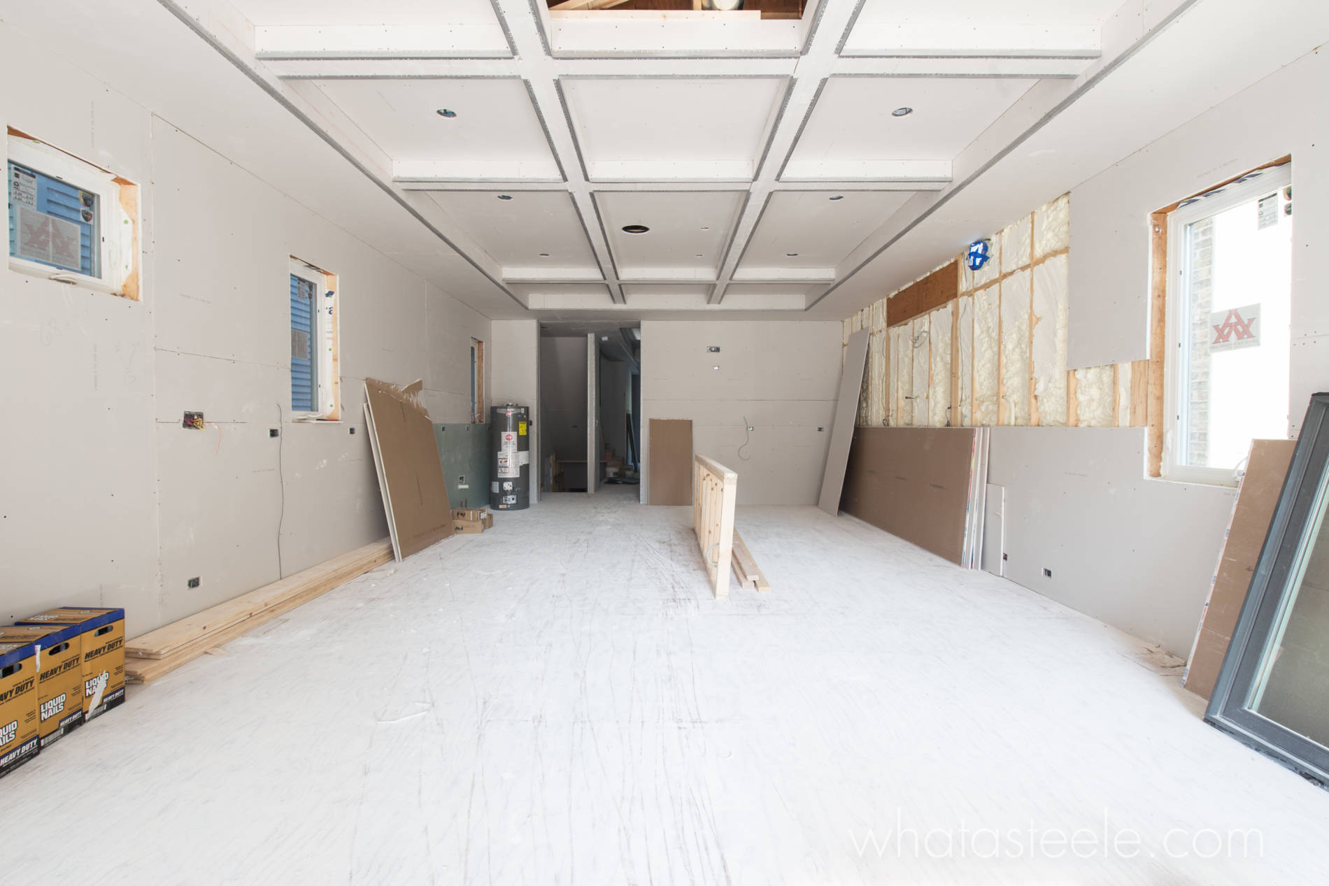 6-15-17 3423 N Bell Kitchen Family Room Drywall