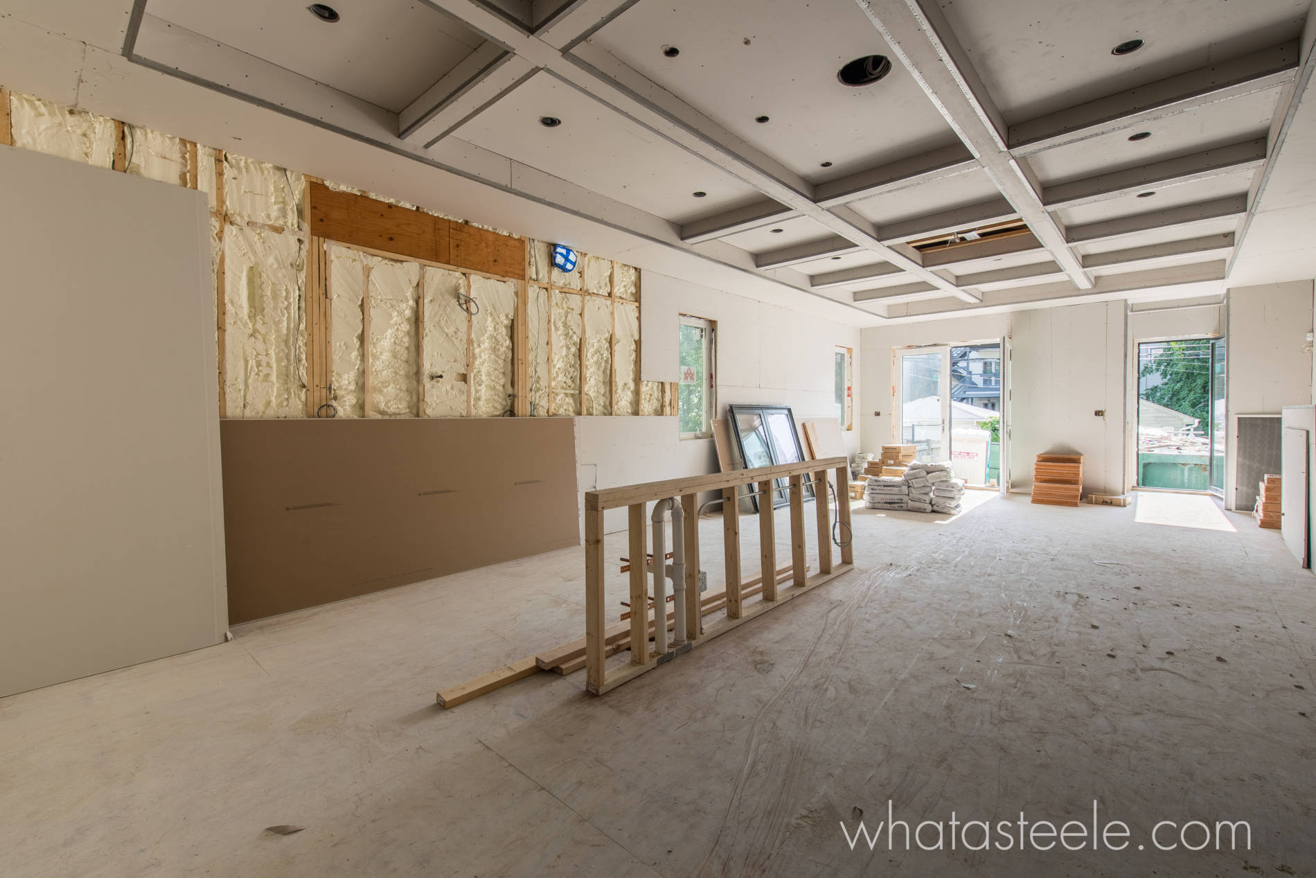 6-15-17 3423 NBell Kitchen North wall Drywall