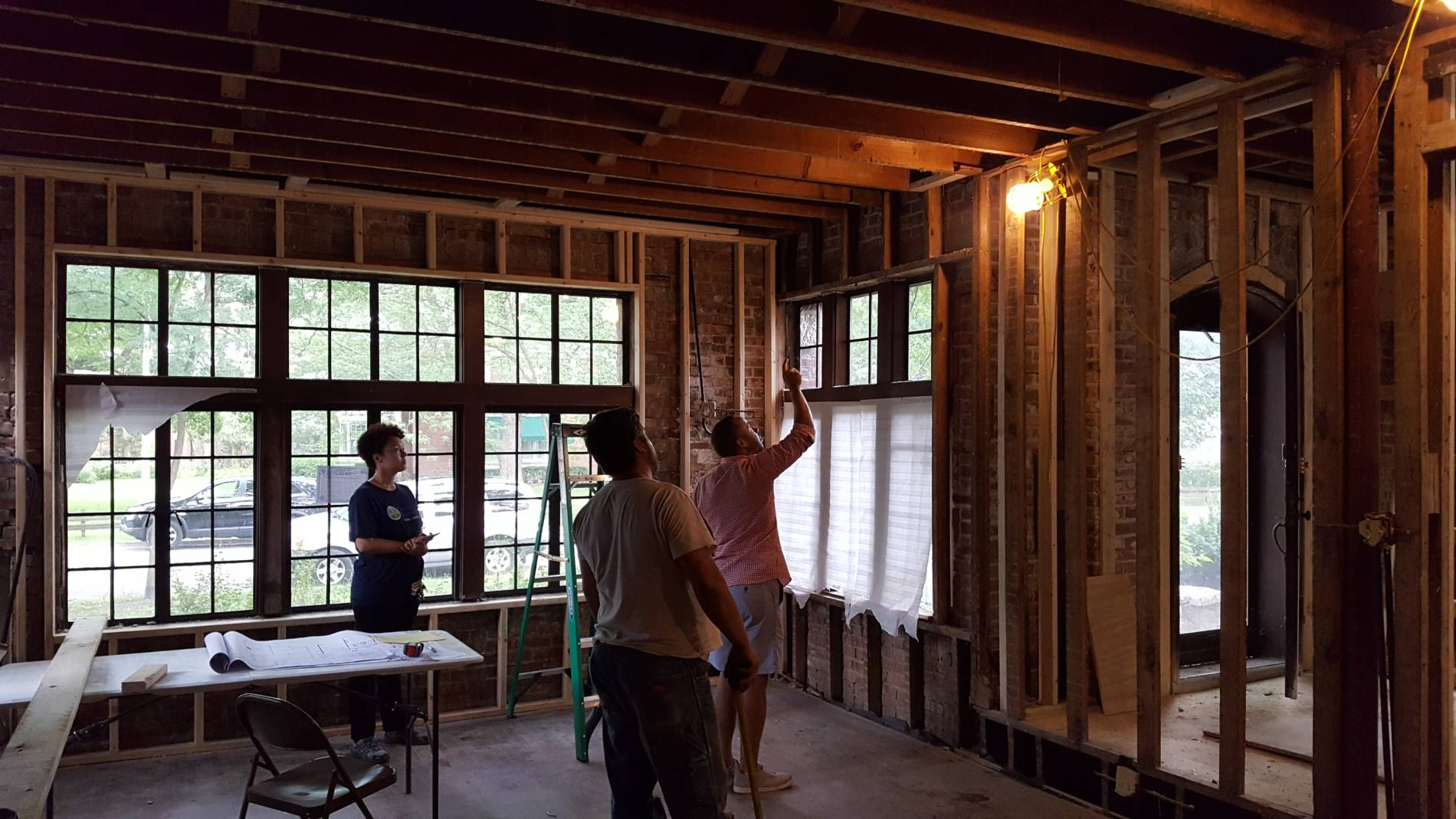 7-25-17 8854 S Hamilton Living Room Coffer Ceiling Layout
