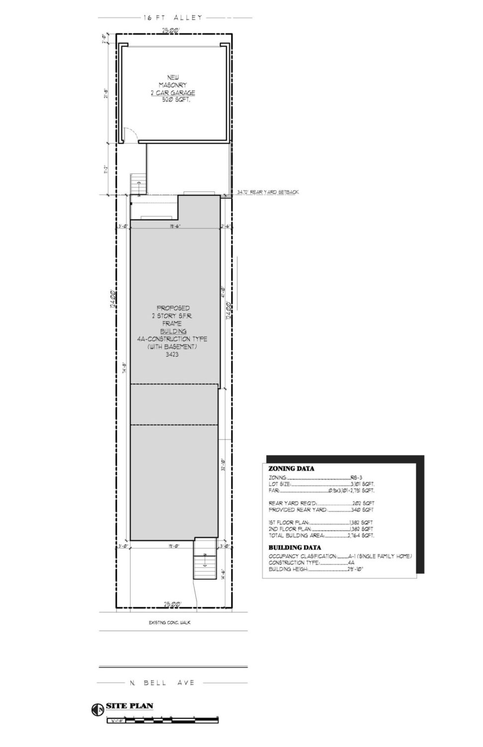 3423 N Bell Ave Site Plan