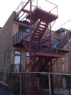 stairwell and deck construction