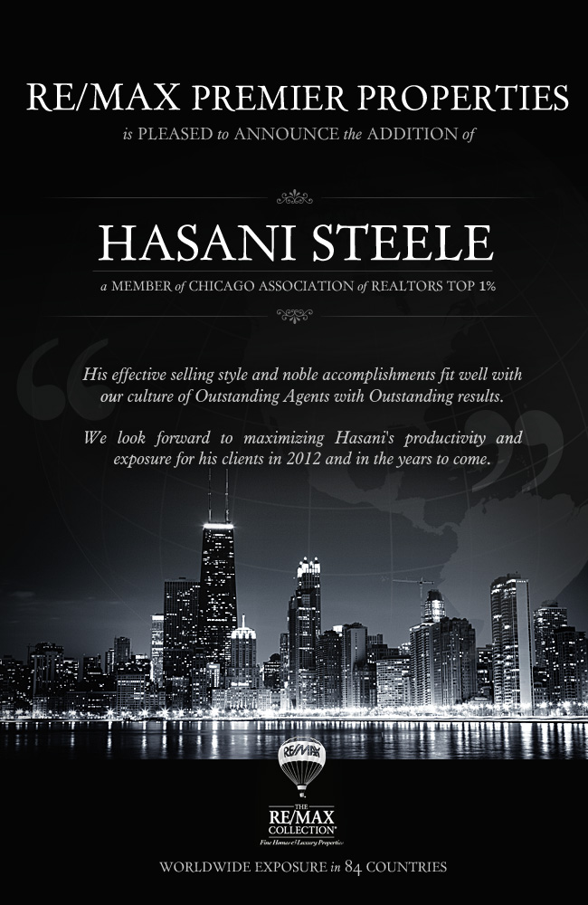 RE/MAX Premier Properties Welcomes Hasani Steele!